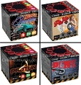 4er Pack Crazy Fireworks XPlode Mix