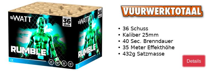 Vuurwerktotaal Rumble / Neuheit 2020
